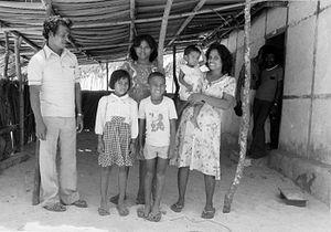 Selaru - A family in Kandar village, Selaru (1981)