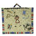 COLLECTIE TROPENMUSEUM Gevlochten omslag voor een blocnote gemaakt als verjaarsdagscadeau in een Japans interneringskamp TMnr 3934-54.jpg