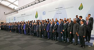 Paris Agreement - Heads of delegations at the 2015 United Nations Climate Change Conference in Paris.
