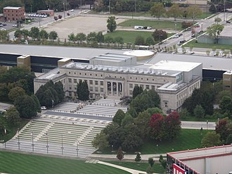 COSI Columbus - COSI viewed from the Rhodes State Office Tower