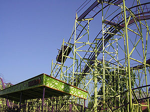 WildCat roller coaster station at Cedar Point.