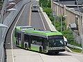 CTfastrak route 101 bus arriving at Flatbush Avenue, June 2017.jpg