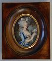 Cadre en Poirier avec miniature du portrait de Marie Antoinette par Elisabeth Vigée Lebrun.JPG