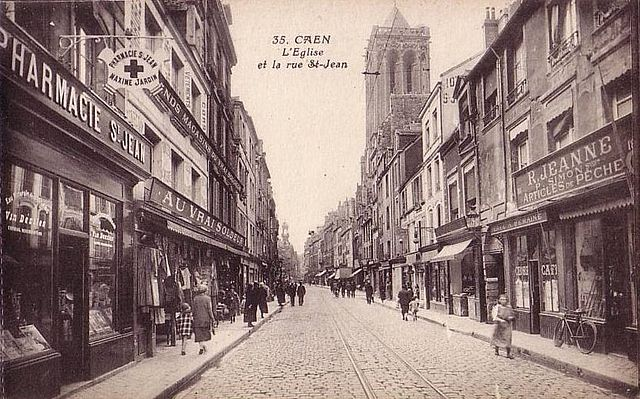 File caen ruesaintjean clocher wikimedia commons - Rue saint laurent caen ...