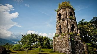 Archaeology of the Philippines - Image: Cagsawa ruins