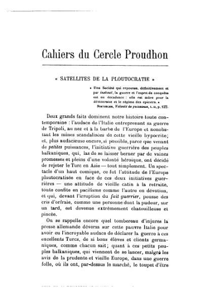 File:Cahiers du Cercle Proudhon, cahier 5-6, 1912.djvu
