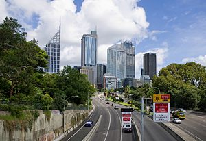 Cahill Expressway - Image: Cahill Expressway from Art Gallery Road – CN