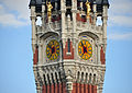 Calais Town Hall clock tower July 2012.jpg
