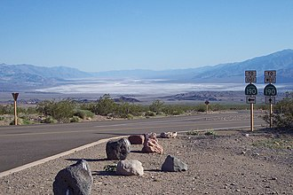 State Scenic Highway System (California) - Death Valley and access roads to State Route 190 at Hells Gate