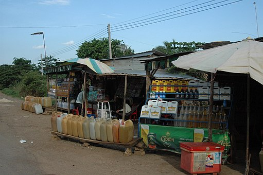 Cambodia gas station