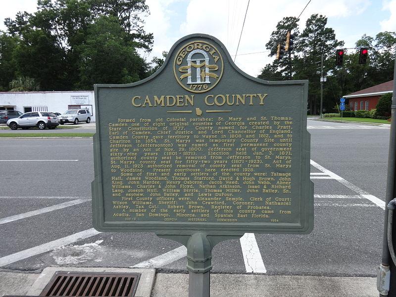 File:Camden County historical marker, Woodbine.JPG