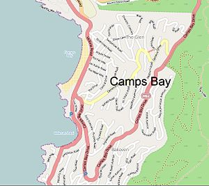 Camps Bay - Image: Camps Bay map