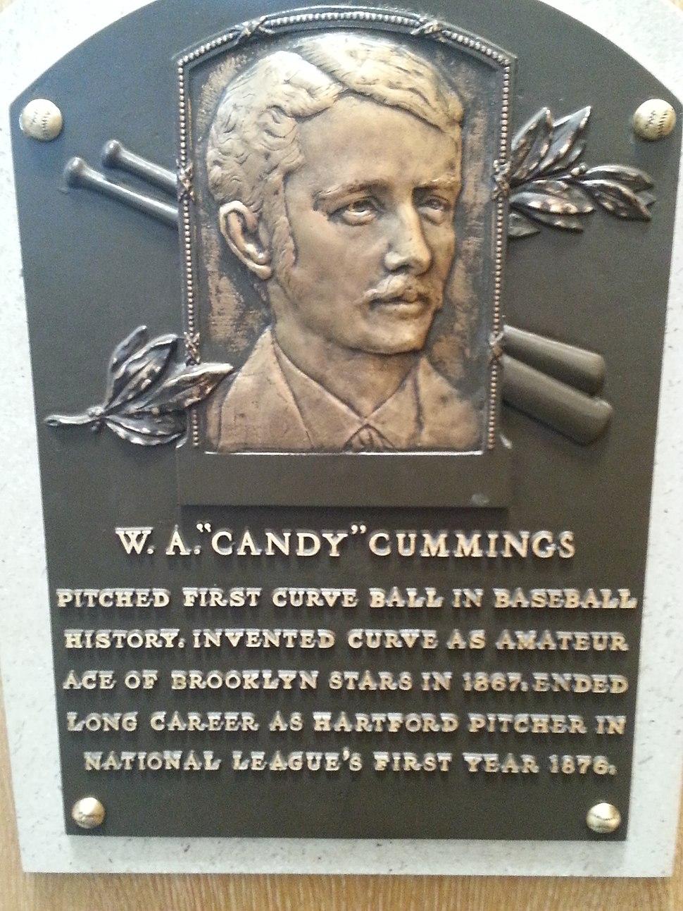 Candy Cummings plaque