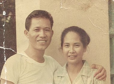 Captain Nieves Fernandez, a Filipina school teacher who led the resistance in Tacloban, Leyte, Philippines with her husband in a photograph from 1944 CaptainNievesFernandez.jpg