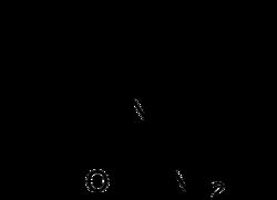 Strukturformel von Carbamazepin
