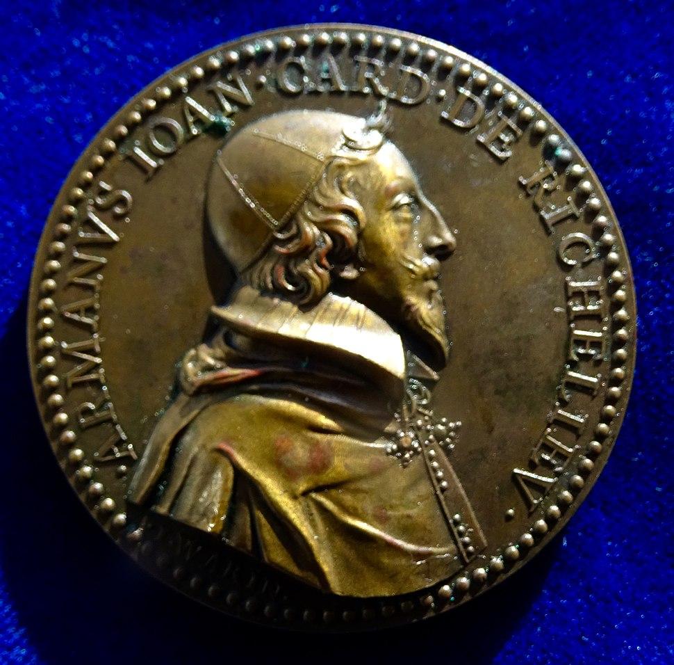 Cardinal Richelieu Bronze Medal 1631 by Warin. Obverse