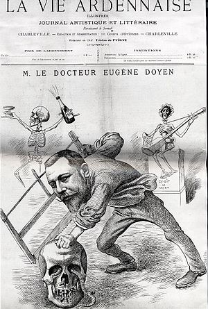 Eugène-Louis Doyen - 1898 satirical cartoon of Doyen