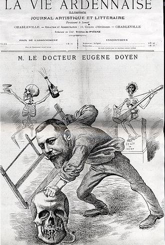 Eugène-Louis Doyen - 1898 satirical cartoon of Doyen