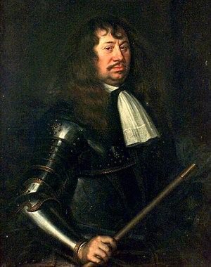 Swedish invasion of Brandenburg (1674–75) - Field Marshal Carl Gustav Wrangel, Commander-in-Chief of the Swedish Army.  Painting by Matthäus Merian the Younger, 1662