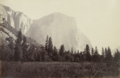 Carleton E. Watkins, El Capitan (3600 Feet) from the Foot of the Mariposa Trail, c. 1867, Albumen silver print, 19.4 x 29.7 cm, MoMA, 576.1980.png
