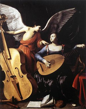 Carlo Saraceni - Saint Cecilia and the Angel
