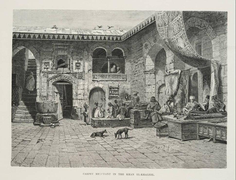 Carpet Merchant in the Khan el Khaleel (1878) - TIMEA