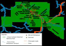 Mappa indicante i principali siti del parco.
