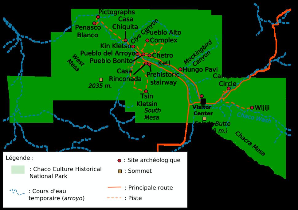 Carte Chaco Canyon 1