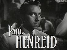 O actor y director cinematografico austriaco Paul Henreid en a cinta Casablanca (1942).