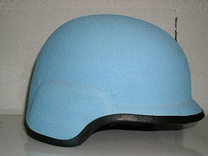 SPECTRA helmet - The first models were made for United Nations peacekeeping operations, and were blue in the mass.