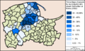 Percentage of people that speak Kashubian at home (2002)