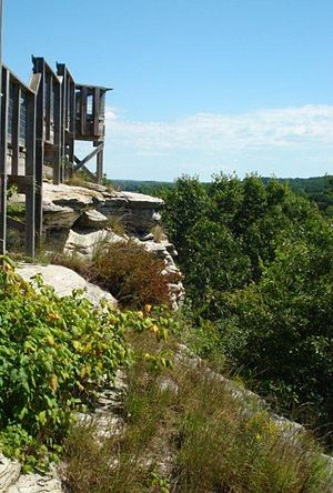 Castle Rock State Park (Illinois) - Image: Castle Rock State Park 1