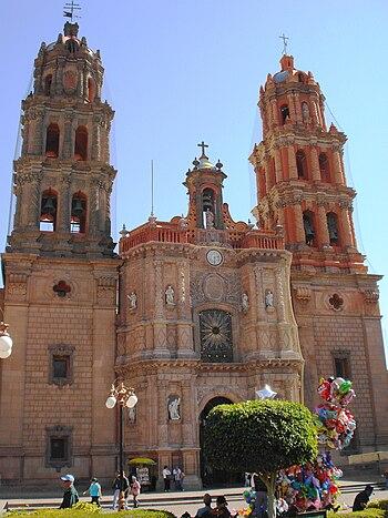 Catedral de San Luis Potosi Mexico.