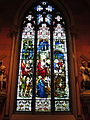 Cathedral of the Immaculate Conception (Albany, New York) - interior, stained glass, Christ's triumphant entry into Jerusalem.jpg