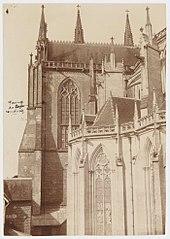 Photographie de l'installation du calorifère de la cathédrale de Sées