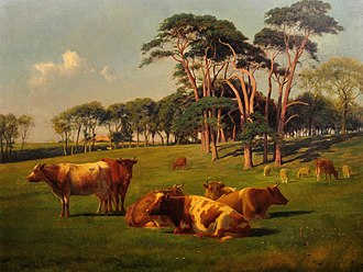 William Sidney Cooper - Image: Cattle & Sheep in pasture