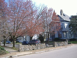 National Register of Historic Places listings in Floyd County, Indiana - Image: Cedar Bough Place Historic District North Entrance
