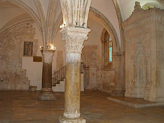 Last Supper - The Cenacle on Mount Zion, claimed to be the location of the Last Supper and Pentecost.