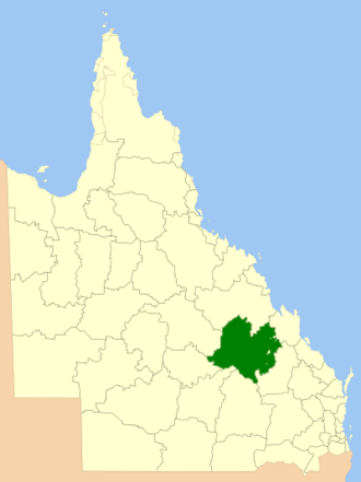 Central Highlands Region - Location within Queensland