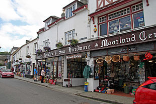 Chagford's famous ironmongery stores, Webbers and Bowdens