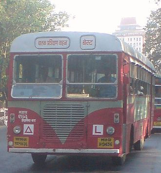 Driving test - A BEST Bus used for driving tests in Mumbai