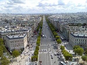 Vista desde el arco de triunfo - Comptoir des cotonniers champs elysees ...