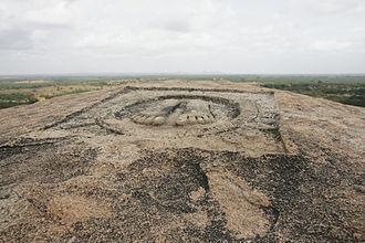 Ancestry of Chandragupta Maurya - Legendary feet of Chandragupta on Chandragiri in Karnataka