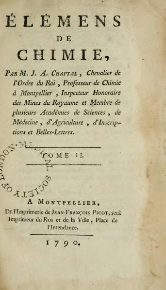 File:Chaptal - Élémens de chimie, 1790, Tome 2.djvu