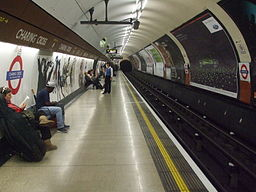 Charing Cross tube stn Bakerloo northbound look south
