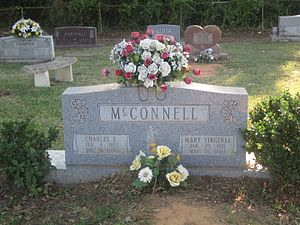 Charles McConnell - Gravestone of former Mayor Charles E. McConnell