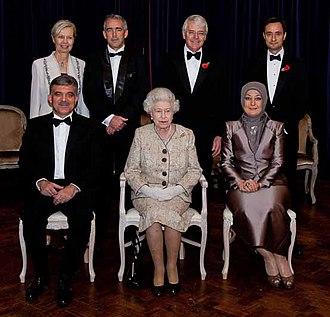 """Abdullah Gül - Gül awarded """"Statesman of the Year"""" by Queen Elizabeth II, 2010."""