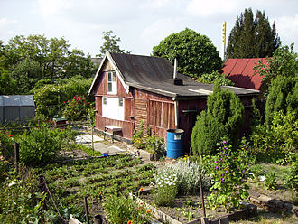 Allotment (gardening) - Allotment plot, Prague, Czech Republic