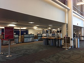 Montgomery Regional Airport - Image: Check in counters at MGM