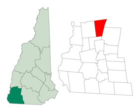 Location in Cheshire County, نيوهامشير